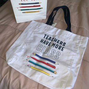 Teachers Tote Bag with matching Gift bag